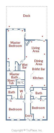 Belmont Towers 205 - Floor Plan Layout