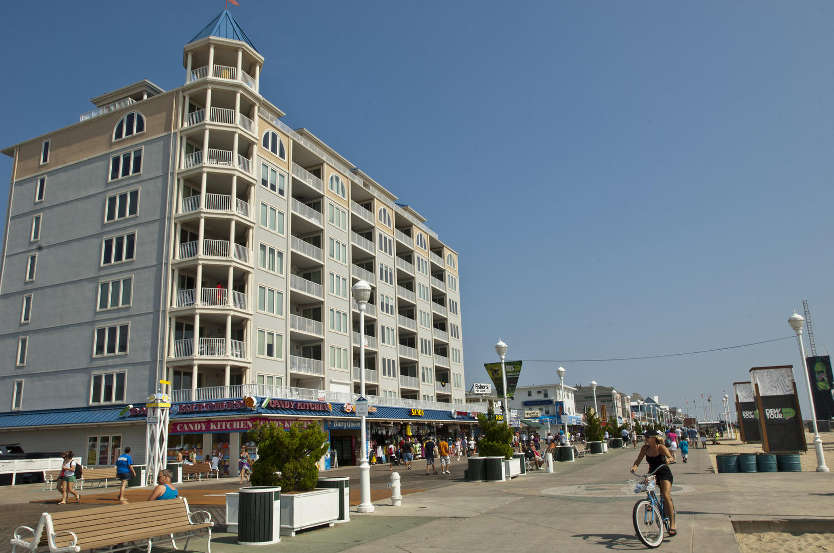 Belmont Towers Exterior on the Boardwalk