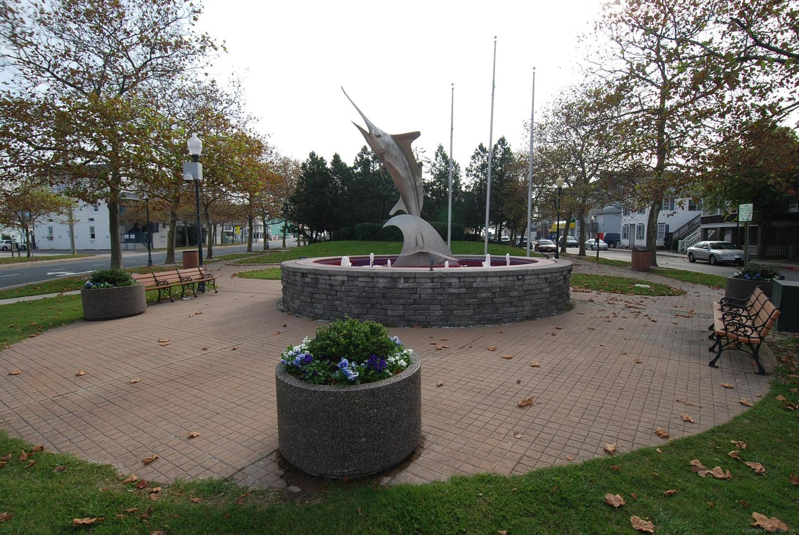 Downtown Ocean City - White Marlin Statue