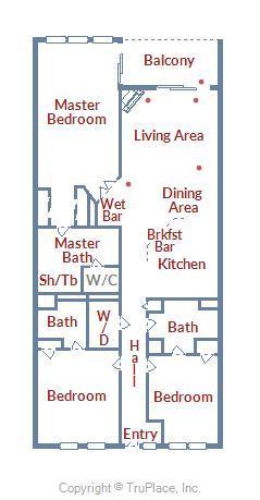 Belmont Towers 602 - Floor Plan Layout