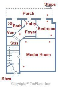 Ground Level Floor Plan - 28 Seaside Dr.