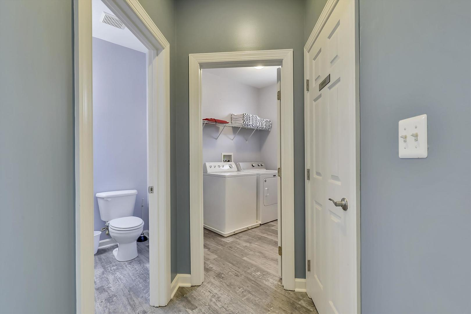 28 Seaside Dr. - Powder Room & Laundry Area