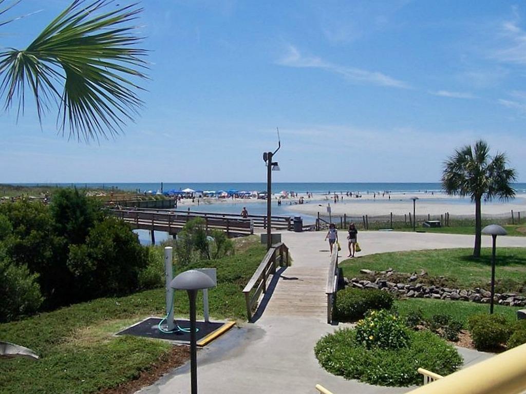 Walkway to the Beach and Beach Club Pool