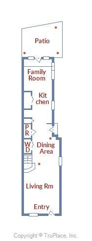1st Floor Layout of 22 Fleet St.