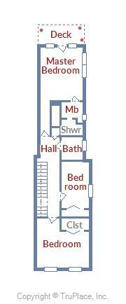 2nd Floor Layout of 22 Fleet St.