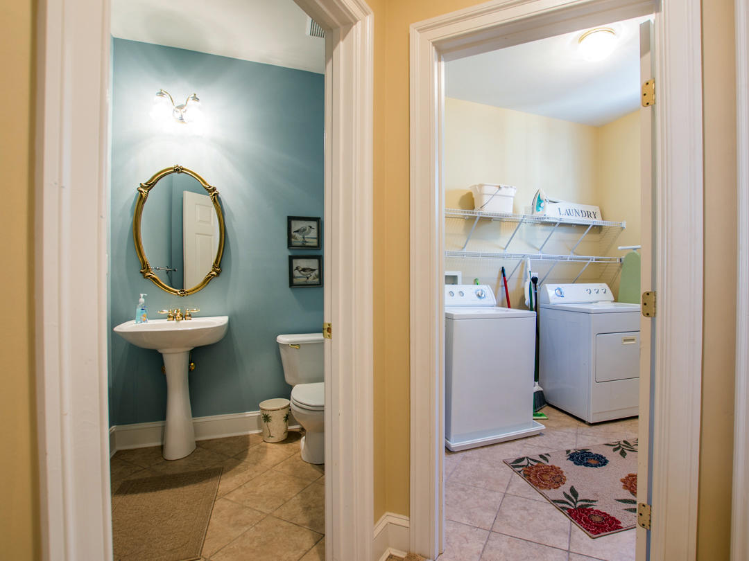 Sunset Island, 6 Seaside Drive - Powder Room and Laundry