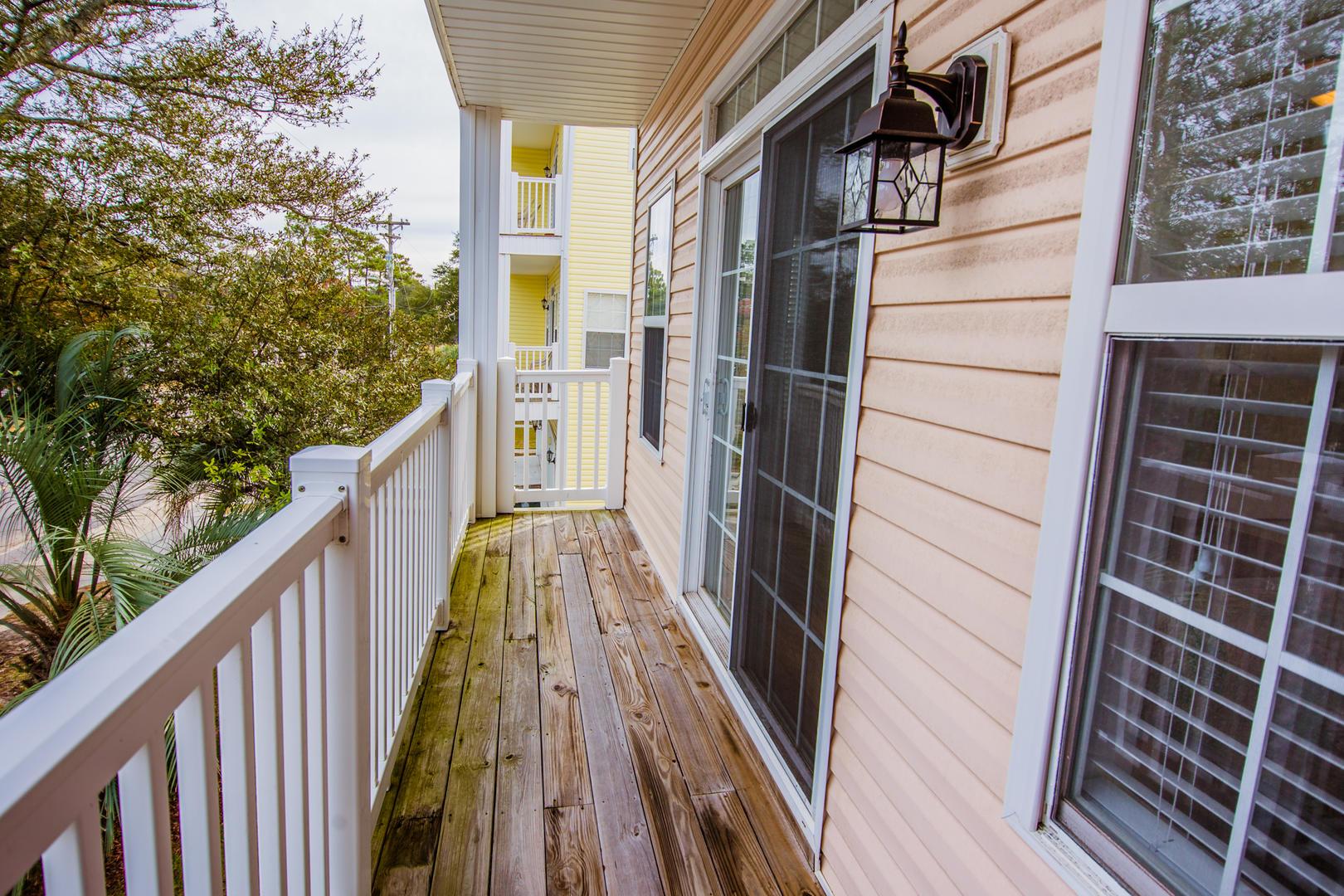 Ocean Breeze Cottage - Master Bedroom Balcony