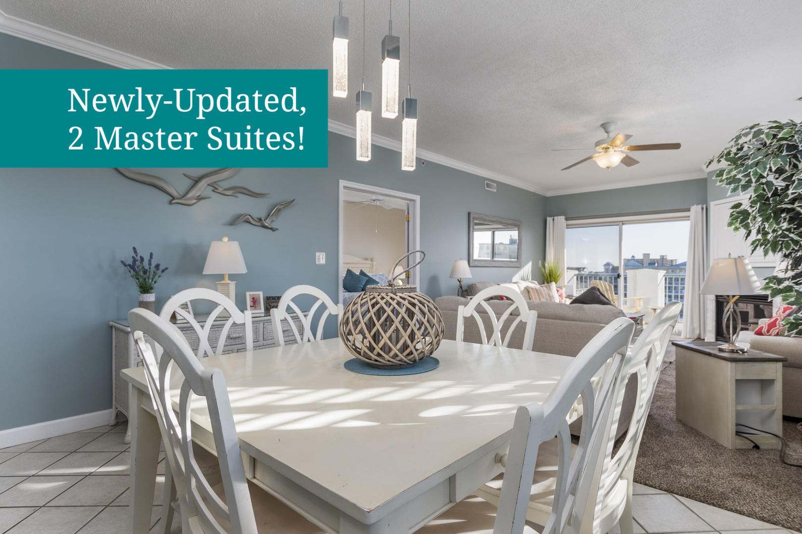 Newly-Updated, 2 Master Suites!