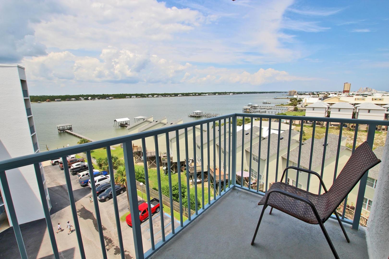 Lagoon Views from the Bedroom Balcony